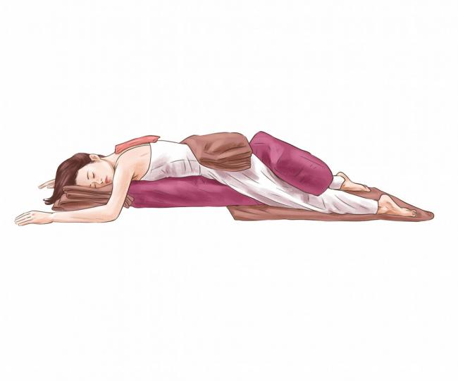 俯臥趴式 Downward Facing Relaxation Pose