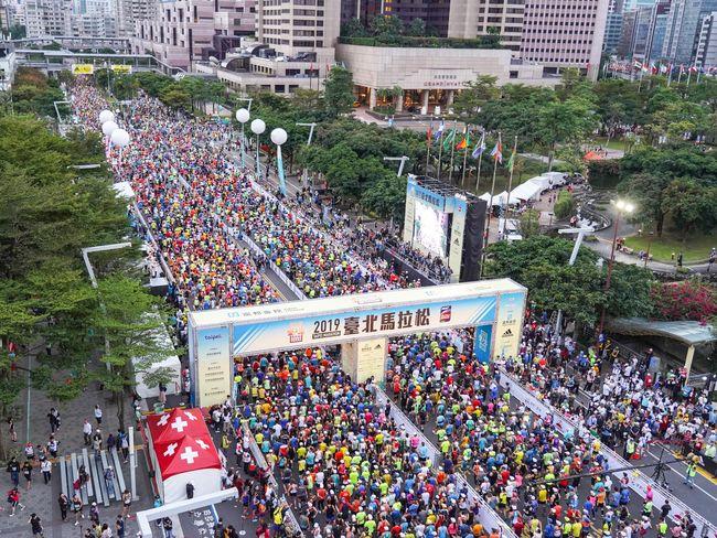 2019台北馬拉松開跑現場