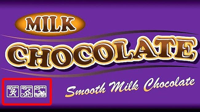 RACE標籤用於巧克力棒