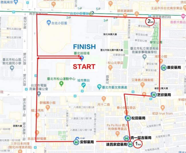 台北田徑場買口罩練跑路線