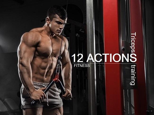 肱三頭肌的12個訓練動作