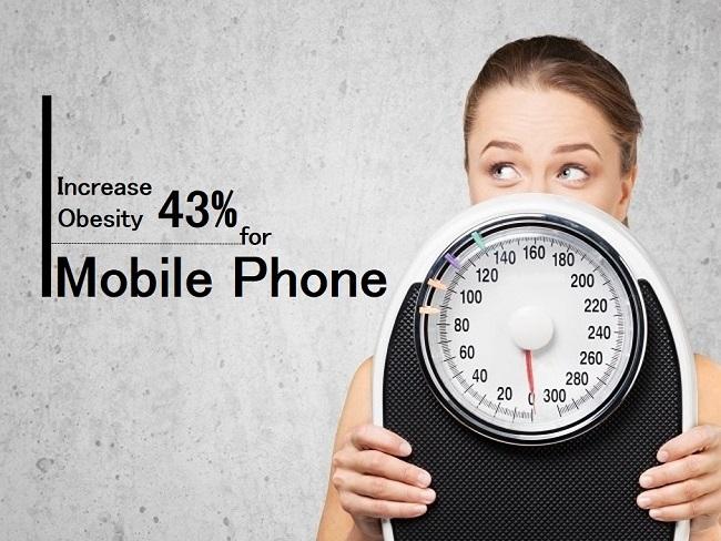 手機將會增加肥胖風險