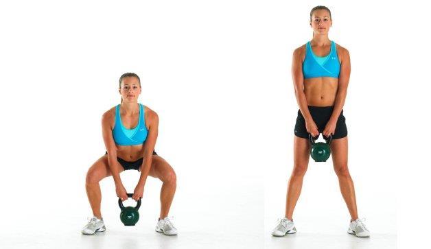 壺鈴深蹲是訓練臀部和腿部肌肉的基本動作