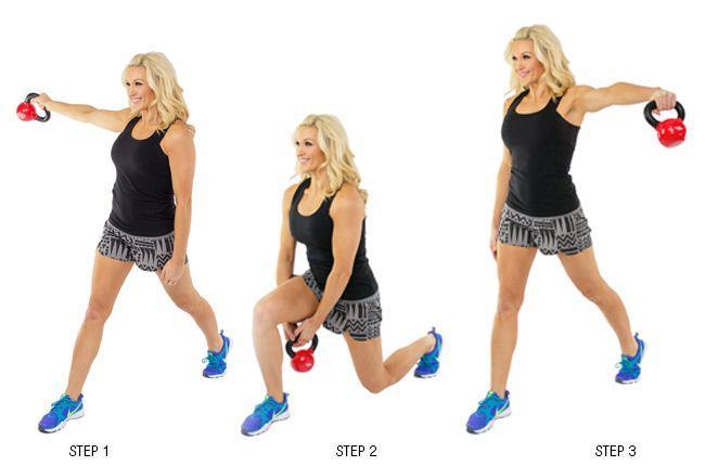 壺鈴弓步核心與腿部肌力的訓練