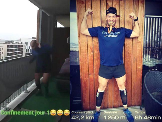 Elisha Nochomovitz陽台跑42.2公里