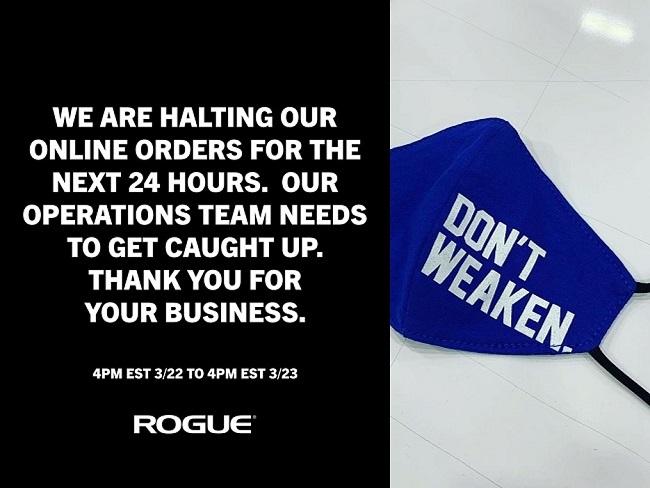 Rogue Fitness開始生產醫療用品