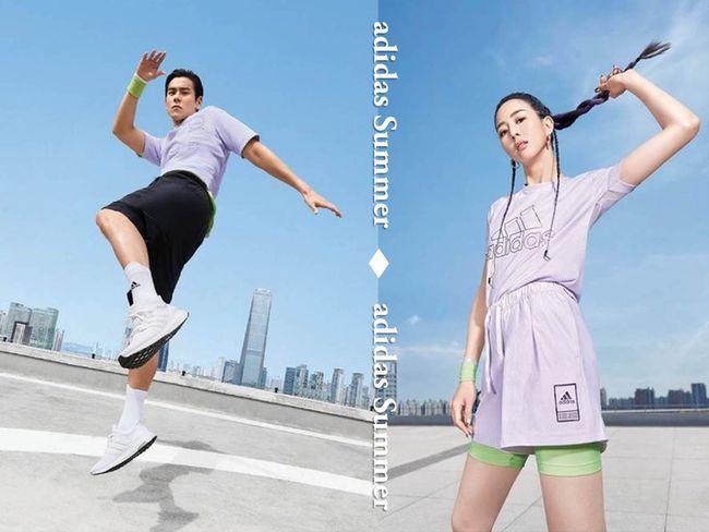 adidas仙氣紫服飾 男神彭于晏女神張鈞甯演繹