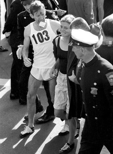 波比吉布跑波士頓馬拉松