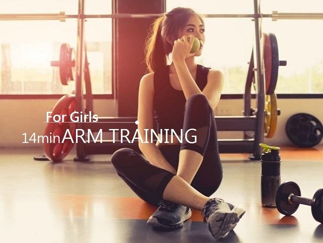 女孩的手臂訓練