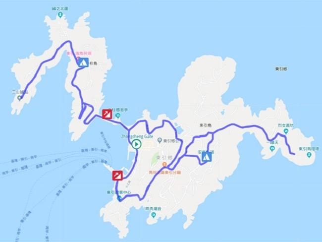 東引越野賽16K路線規劃