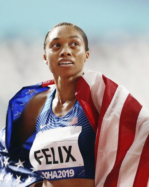 六面奧運金牌田徑選手Allyson Felix