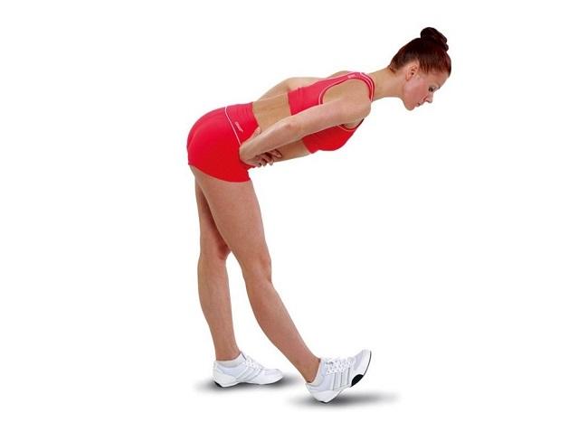 站立伸展單邊大腿後側