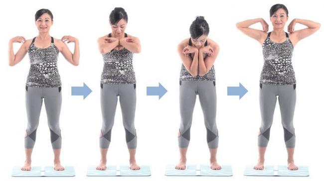 畫圓展胸訓練胸椎多裂肌