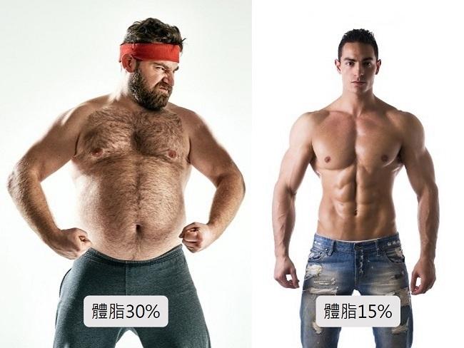 體脂高與低的差異