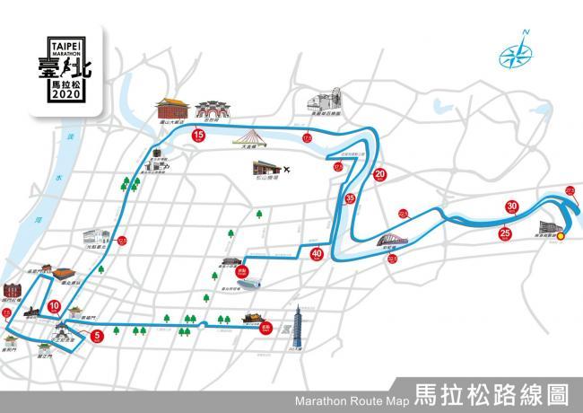 2020台北馬路線圖
