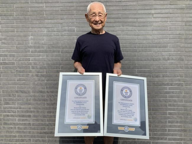 稻田弘兩度打破最年長鐵人的世界紀錄