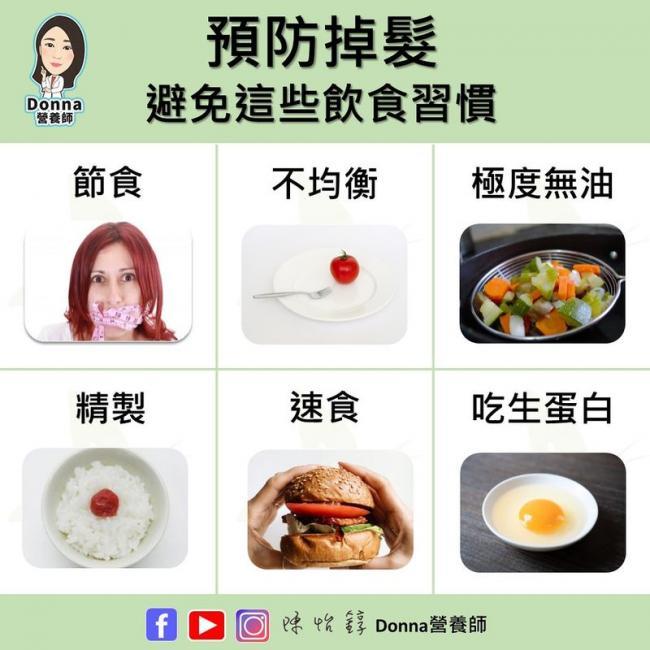 預防掉髮要避免的飲食習慣