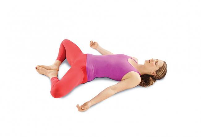 瑜伽 仰臥束角式 Reclining Bound Angle Pose