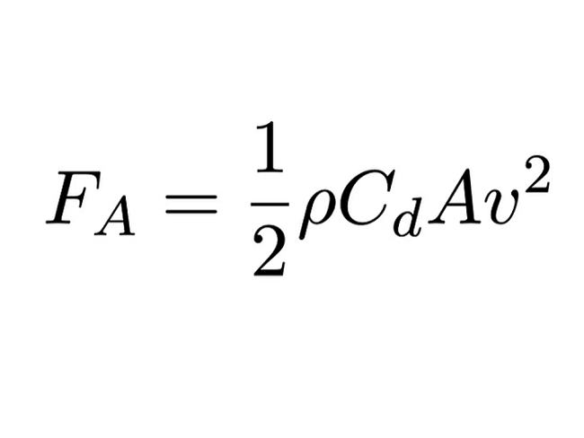 空氣阻力計算公式