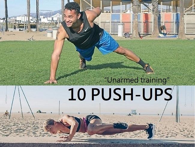 10個伏地挺身訓練動作