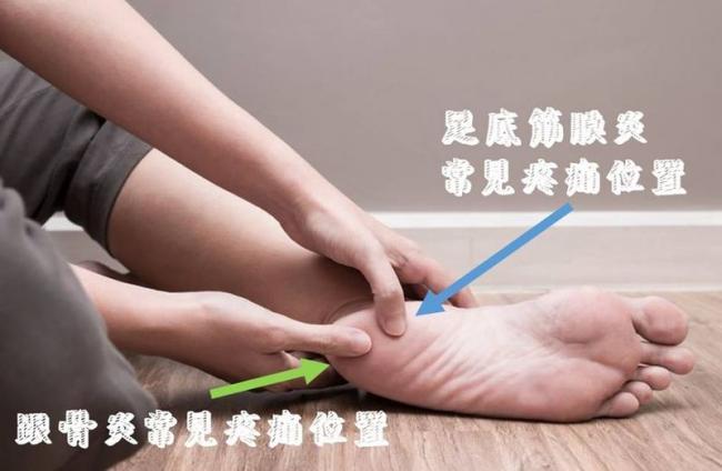 足底筋膜炎與跟骨炎的差異