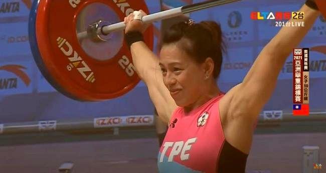 郭婞淳挑戰抓舉110公斤成功