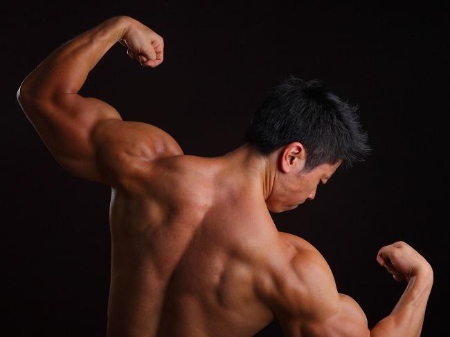 肌肉充血自拍