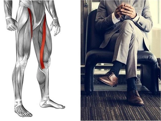 翹二郎腿跟縫匠肌有關