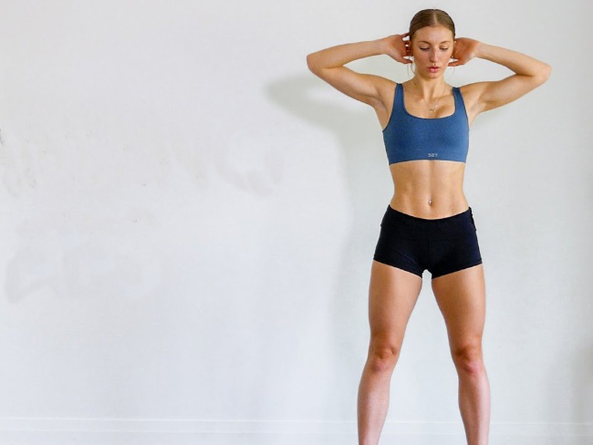 站姿訓練腹肌的動作