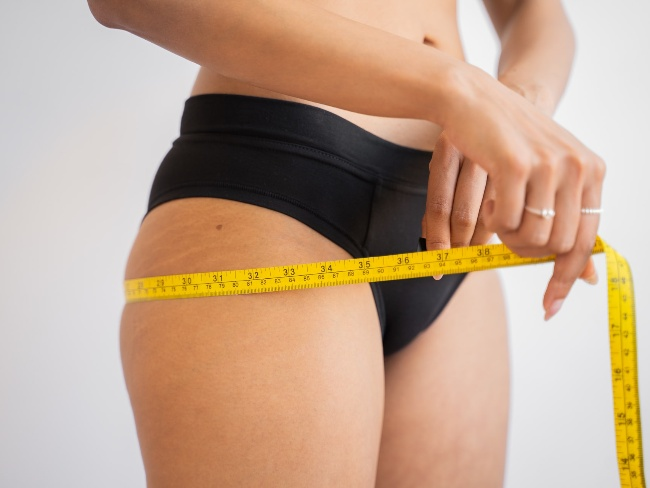 女性脂肪堆積在臀部