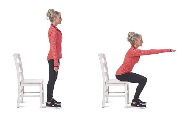 體適能蹲坐法