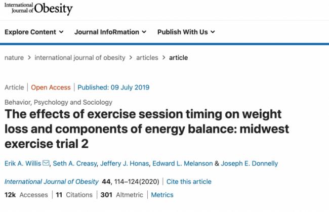 刊載於2020 年《國際肥胖期刊》的研究