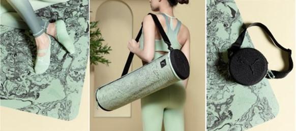 專業瑜珈墊、瑜珈墊收納袋、及瑜珈隱形襪等專屬配件