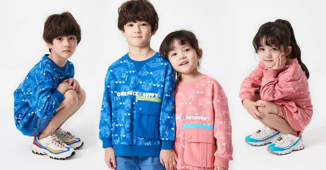 SKECHERS x ONE PIECE KID魯夫&喬巴限定款童鞋及服飾