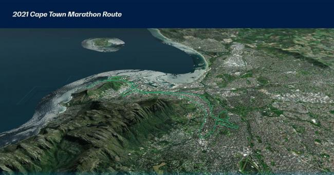 2021 開普敦馬拉松賽道路線