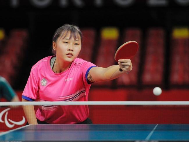 桌球選手田曉雯拿下桌球女子單人銅牌