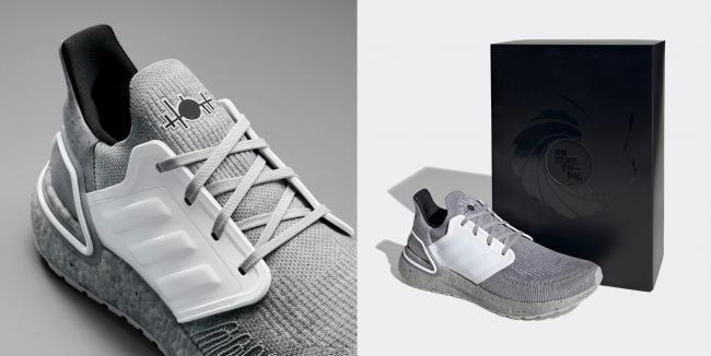 adidas X James Bond灰白配色,以最新電影中的反派角色薩芬為設計靈感