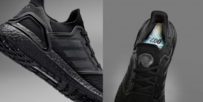 adidas X James Bond 主打配色鞋墊上的「Q」呼應電影中發明精密裝置的 Q 博士