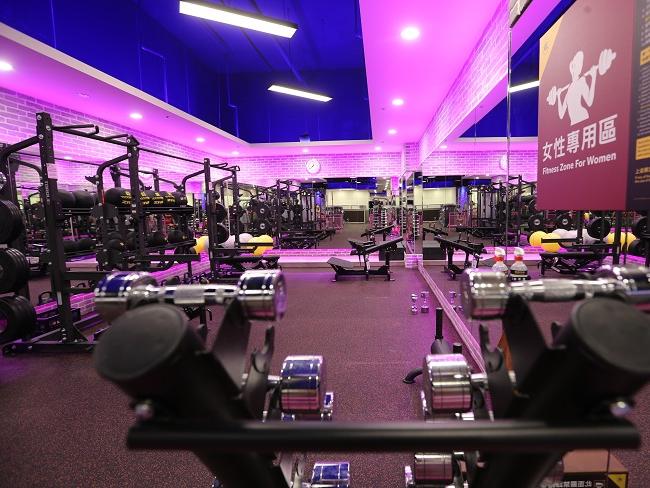 健身工廠設立女性運動專區