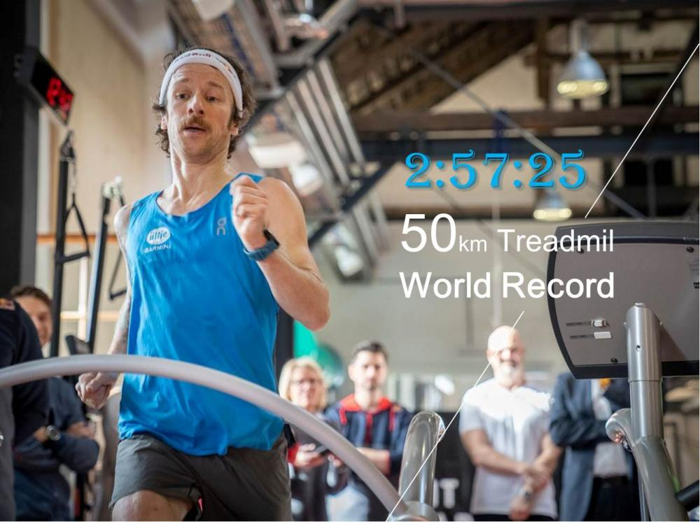 Florian Neuschwander打破跑步機50K世界紀錄