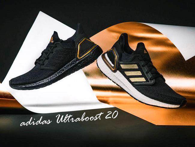 adidas Ultraboost 20兩款黑金配色跑鞋