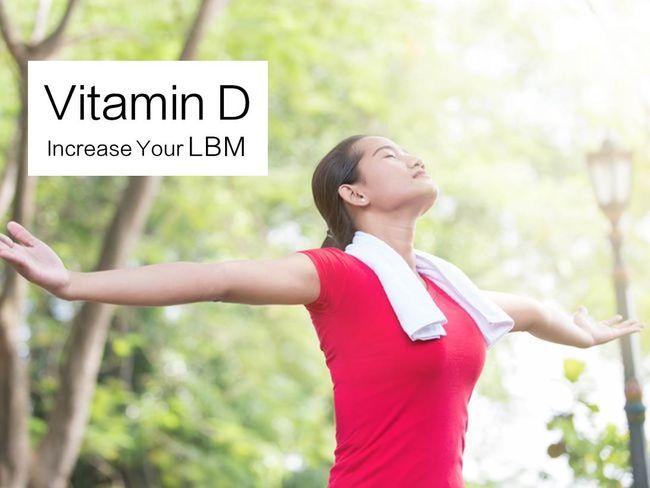 維生素D增加去脂體重