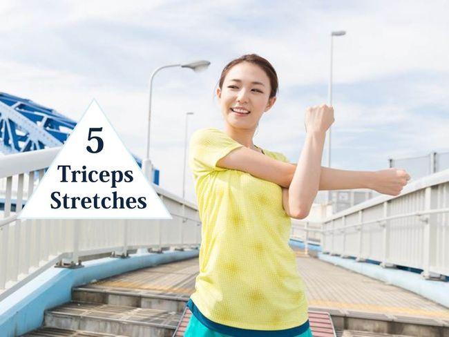 5招三頭肌拉伸緩解手臂痠痛