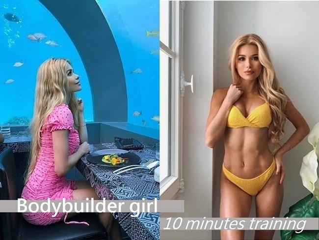 健美女神10分鐘背肌訓練