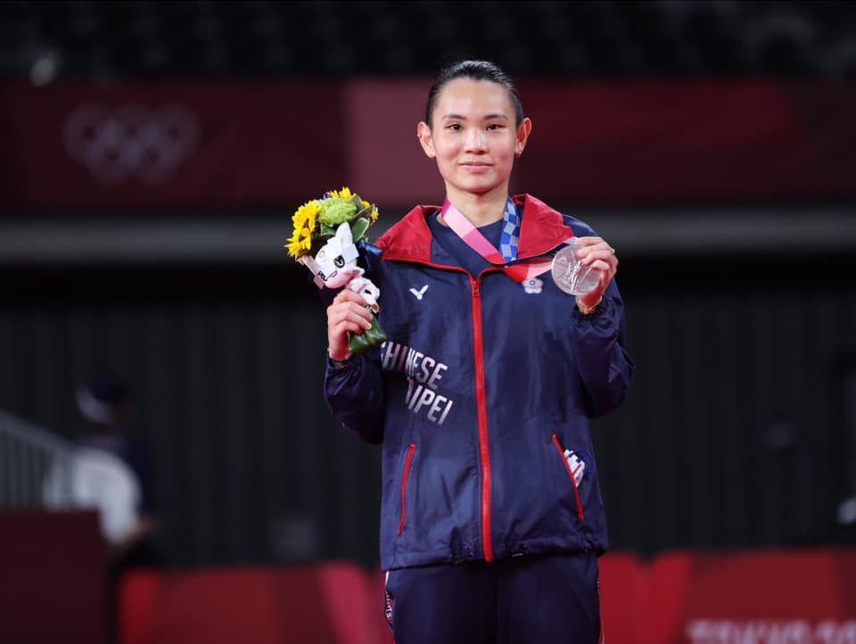 戴資穎在2020東京奧運獲得銀牌