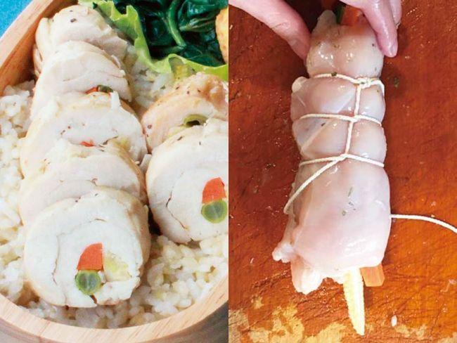 鮮蔬雞胸肉捲